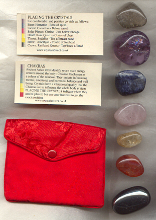 chakra balancing set, click here for larger picture